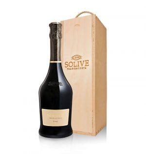 franciacorta brut scatola in legno da 1 bottiglia