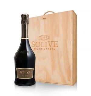 franciacorta Pas Dosé scatola in legno da 3 bottiglie