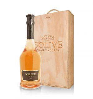franciacorta rosé scatola in legno da 2 bottiglie