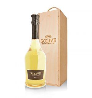 franciacorta saten scatola in legno da 1 bottiglia