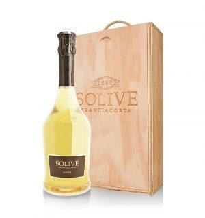 franciacorta saten scatola in legno da 2 bottiglie