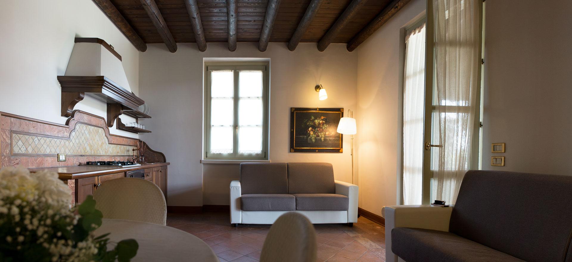 solive alloggi in franciacorta, sala di ingresso